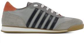DSQUARED2 Men's Grey Fabric Sneakers.