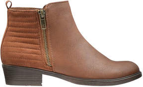 Joe Fresh Kid Girls' Side Zip Ankle Boots, Tan (Size 6)