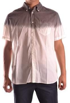 Galliano Men's White/brown Cotton Shirt.