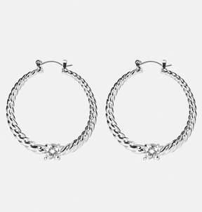 Avenue Textured Rhinestone Earrings