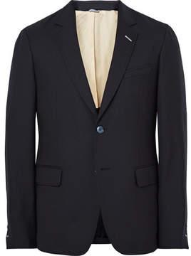Gant Blue Slim-Fit Wool-Hopsack Suit Jacket