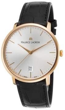 Maurice Lacroix Les Classiques LC6007-PG101-130-BLK 18K Rose Gold 38mm Mens Watch