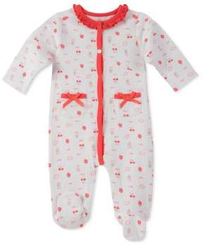 Absorba Baby Girl's Printed Cotton Footie