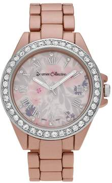 Journee Collection Women's Crystal Flower Watch