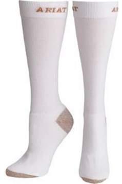 Ariat A10002640 Womens Slim Line Sport Socks, White