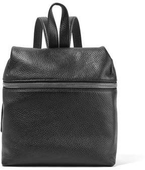 KARA - Small Textured-leather Backpack - Black