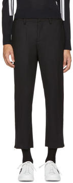 Neil Barrett Black Denim Detail Skinny Trousers