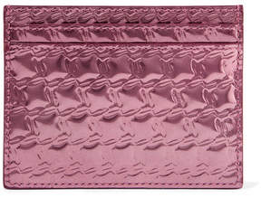 Christian Louboutin Kios Embossed Metallic Leather Cardholder - Pink
