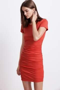 Velvet by Graham & Spencer AMADA GAUZY WHISPER SHIRRED CREW NECK DRESS
