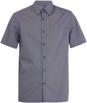 Prada Short-sleeved geometric-print cotton shirt