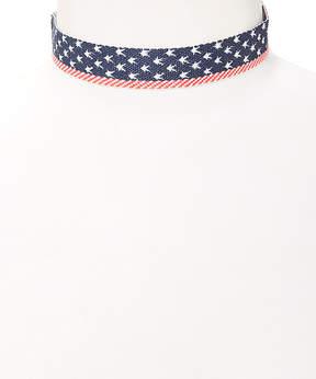 Carole Small Stars & Stripes Cloth Choker Necklace