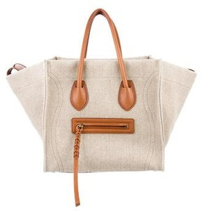 Celine Medium Canvas Luggage Phantom Tote