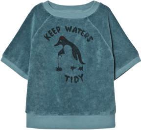 Bobo Choses Blue Keep Waters Tidy Short Sleeve Sweatshirt