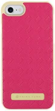 Trina Turk Basket Weave Folio Apple Phone Case - Fuschsia - iPhone 7/8
