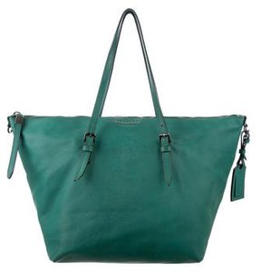 Burberry Grained Leather Tote - GREEN - STYLE