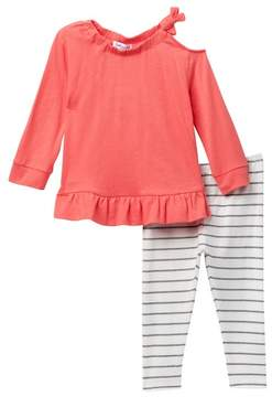 Splendid Cold Shoulder Top Set (Baby Girls)