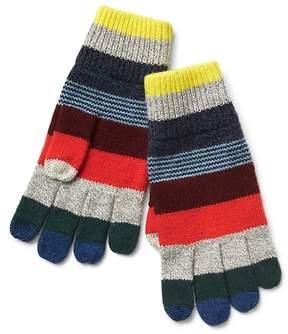 Gap Crazy stripe knit gloves