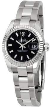 Rolex Lady Datejust 26 Black Dial Stainless steel Oyster Bracelet Automatic Watch 179174BKSO