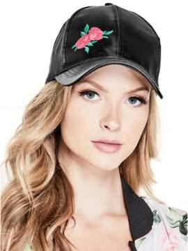 GUESS Women's Satin Floral Baseball Cap