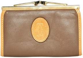 Cartier Vintage Beige Leather Purses, wallets & cases