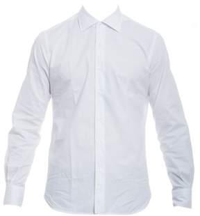 Orian Men's White Cotton Shirt.