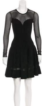 Alaia Textured Flared Dress