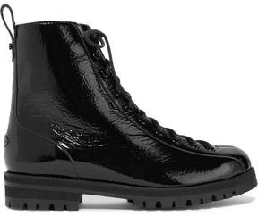 Jimmy Choo Brooke Patent-leather Ankle Boots - Black