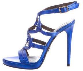 Roberto Cavalli Metallic Cage Sandals