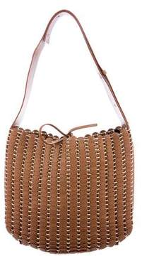 Paco Rabanne Woven Leather Shoulder Bag