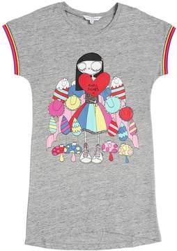 Little Marc Jacobs Heart Logo Print Cotton Jersey Dress