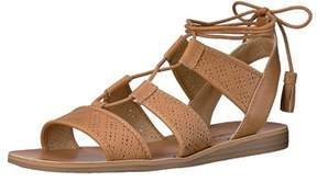 Lucky Brand Womens Lk-brenny Leather Open Toe Casual Ankle Strap Sandals.