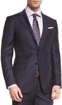 Ermenegildo Zegna Tonal Plaid Two-Piece Suit, Navy