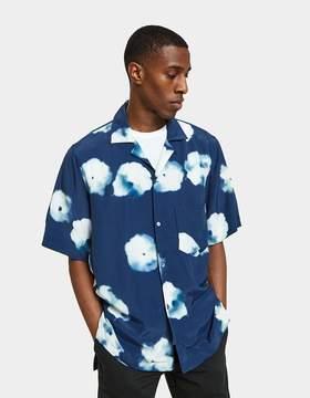 Acne Studios Elms Check SS Shirt in Indigo Blue