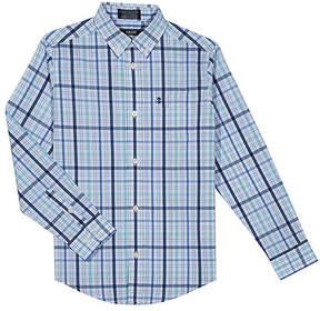 Izod Blue Plaid Button-Up Top - Boys