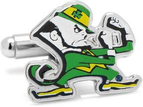 Ice Notre Dame Fighting Leprechaun Cufflinks