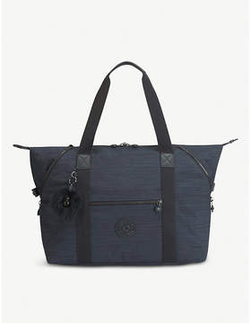 Kipling True Dazz Navy Blue Art Travel Tote Bag