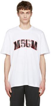 MSGM White Logo T-Shirt