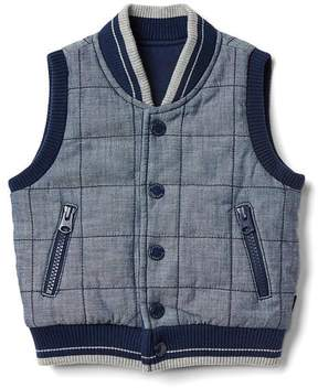 Gap Quilted chambray vest
