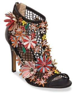 Betsey Johnson Dafadil Floral Faux Leather Booties