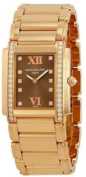 Patek Philippe Twenty 4 Diamond 18K Rose Gold Ladies Watch 4910-11R-010