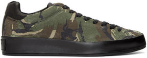 Rag & Bone Green Camo Suede RB1 Sneakers