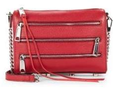 Rebecca Minkoff Tripple-Zipper Leather Crossbody Bag - CARMINE - STYLE
