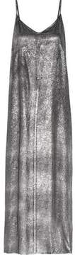 RtA Marlene Silk-Lamé Maxi Dress