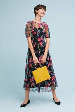 Eva Franco Lucy Embroidered Midi Dress
