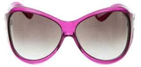 Alberta Ferretti Oversize Logo Sunglasses