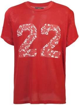 Amiri Twenty Two mesh T-shirt