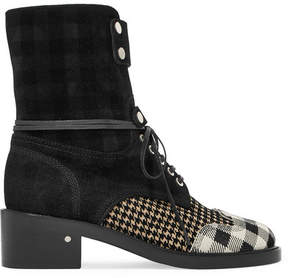 Laurence Dacade Manu Flocked Suede Boots - Black