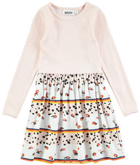 Molo Credence Be My Ladybird Long-Sleeve Dress, Size 2T-10