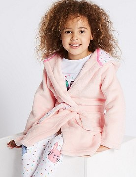 Marks and Spencer Bunny Dressing Gown with Belt (1-8 Years)