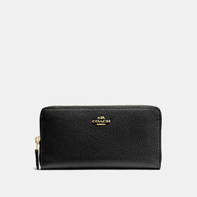 COACH Coach Accordion Zip Wallet - LIGHT GOLD/BLACK - STYLE